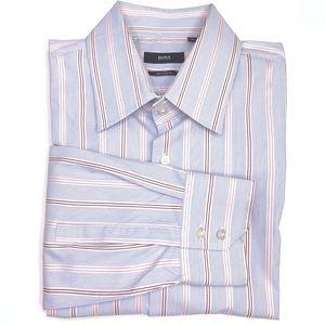 Boss Hugo Boss Regular Fit Striped Dress Shirt.
